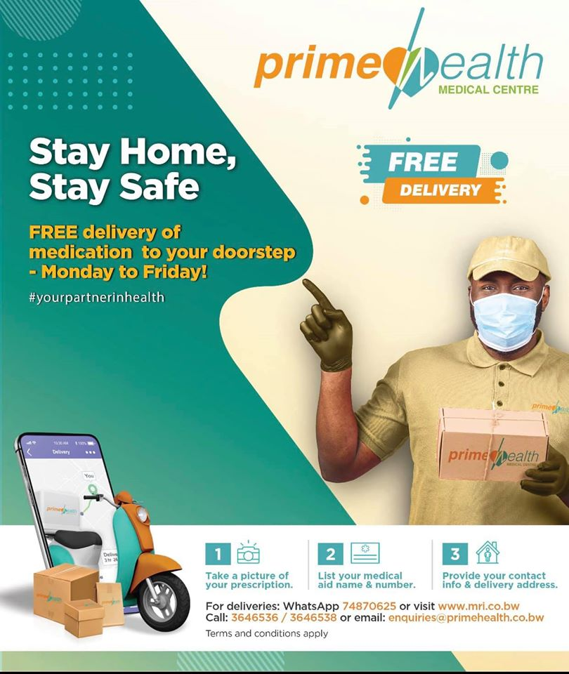 Stay at home while we deliver your medication